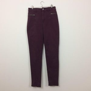 American Eagle Outfitters Skinny Zipper Moto Jeans